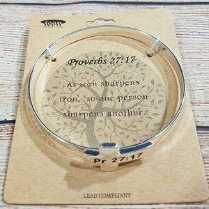 Jewelry - 💎BOGO NEW Womens Bible Verse Cross Bracelet